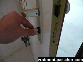 remplacement du cylindre de porte
