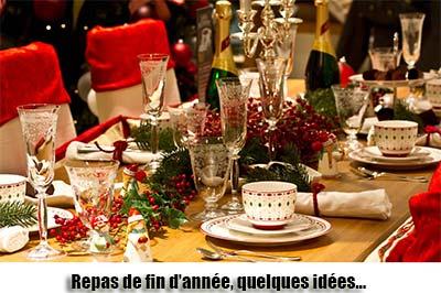 Le menu des fêtes de fin d'année 2014 !